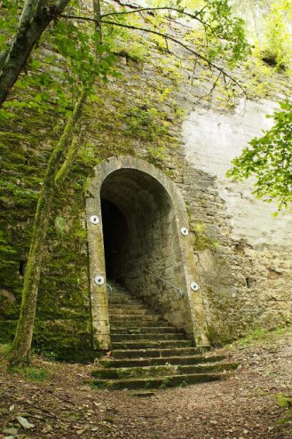 partie basse du tunnel