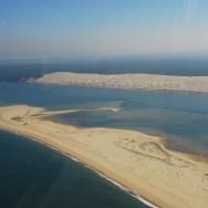 La Dune du Pyla vue du ciel
