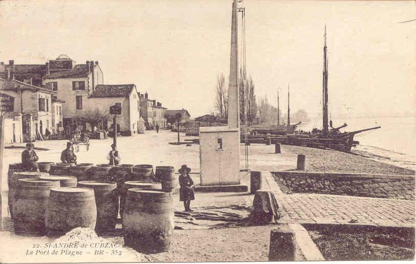 Vues anciennes de Saint André de Cubzac